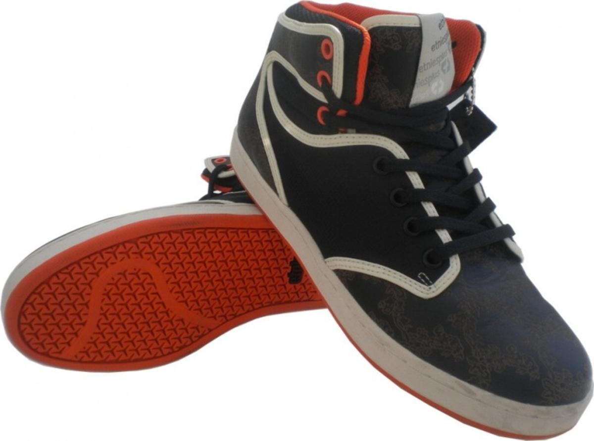 Etnies Plus Skateboard Schuhe braun Orange US 9   EU 42