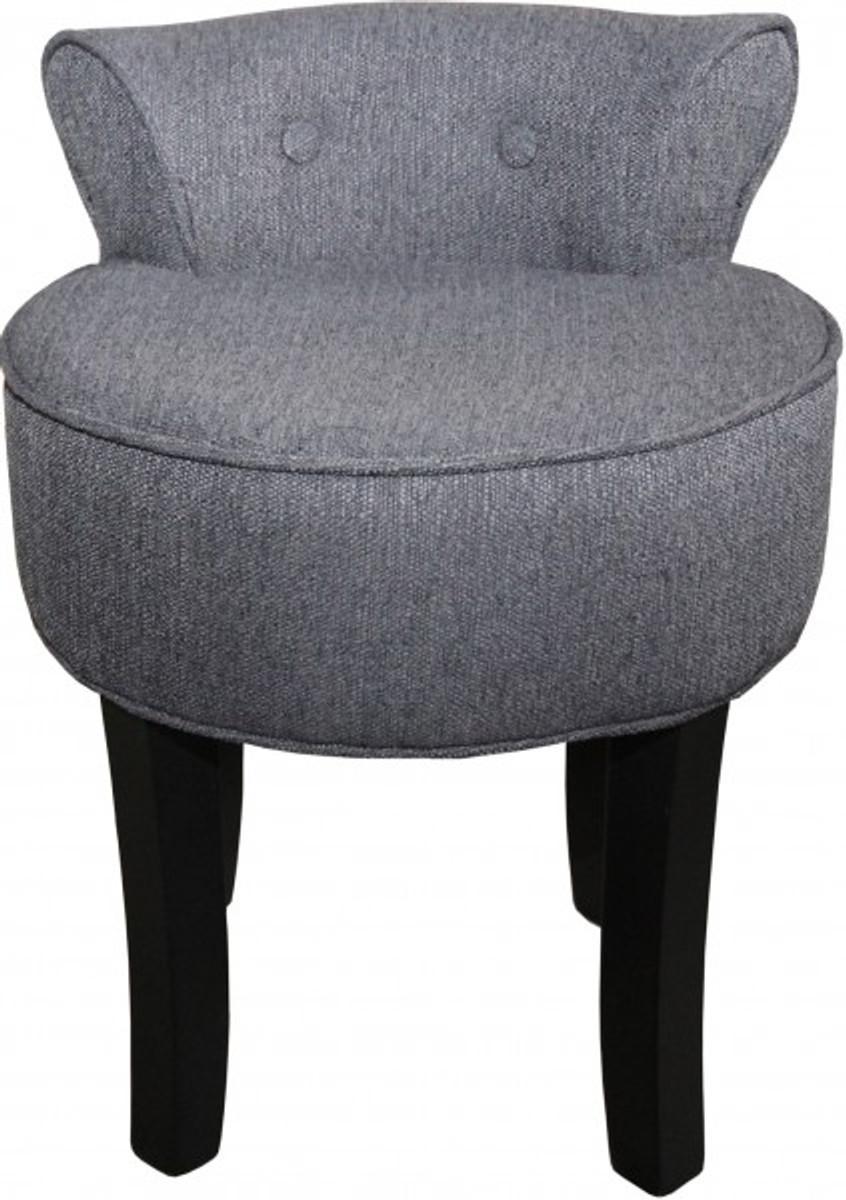 Casa Padrino Designer Hocker Boston Grau Schwarz Barock Schminktisch Stuhl Kaufen Bei Demotex Gmbh