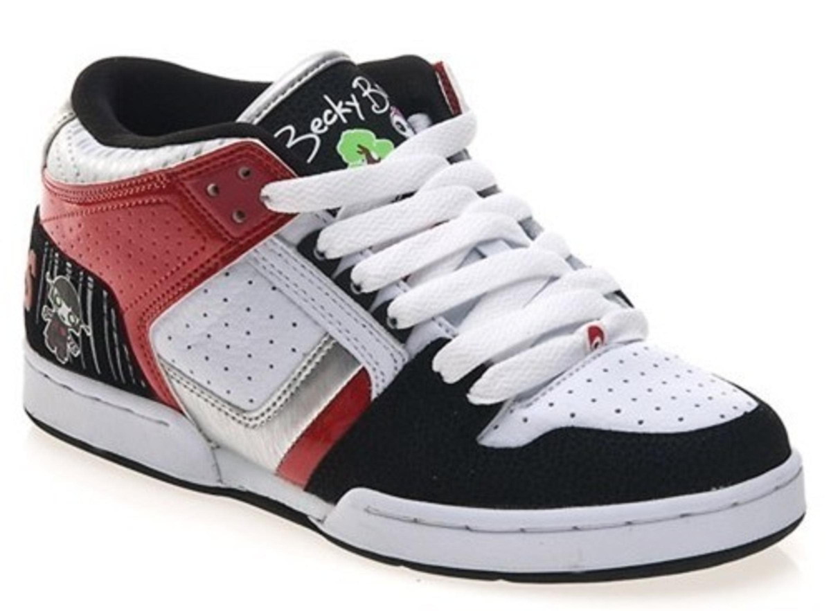 55225bfc49f Osiris Skateboard Schuhe South Bronx Lucylie/Soaked/White/Black/Red - Hip