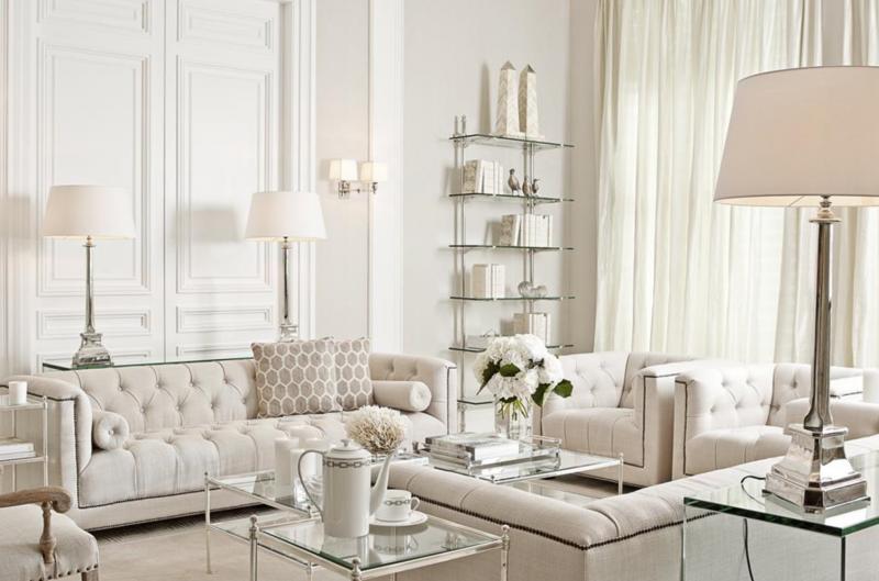 Casa Padrino Luxus Art Deco Designer Couchtisch Silber - Wohnzimmer ...