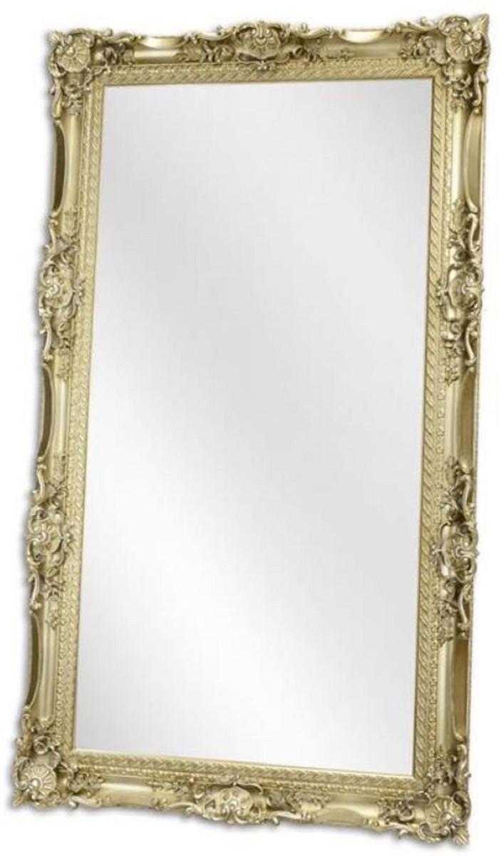 Casa Padrino Barock Spiegel Silber 9, 9 x H. 9, 9 cm - Garderoben  Spiegel - Wohnzimmer Spiegel - Prunkvoller Wandspiegel im Barockstil
