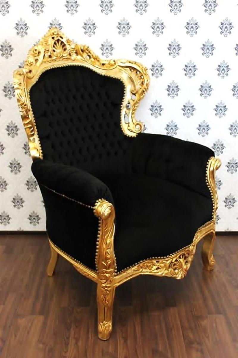 casa padrino barock sessel king schwarz gold mobel antik stil