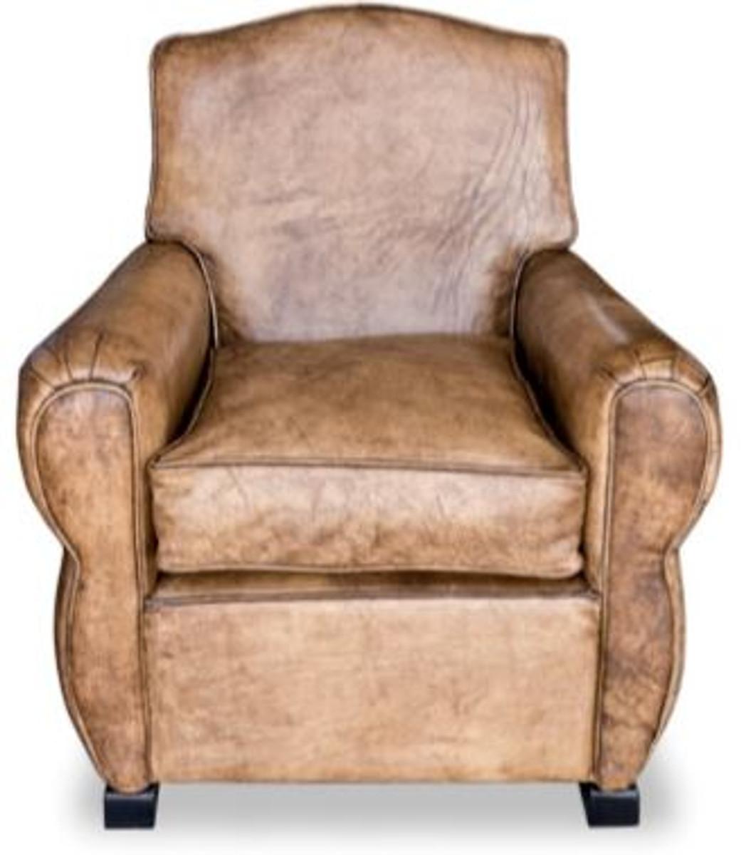 casa padrino echtleder sessel buffalo leder antik braun clubsessel lounge sessel vintage. Black Bedroom Furniture Sets. Home Design Ideas