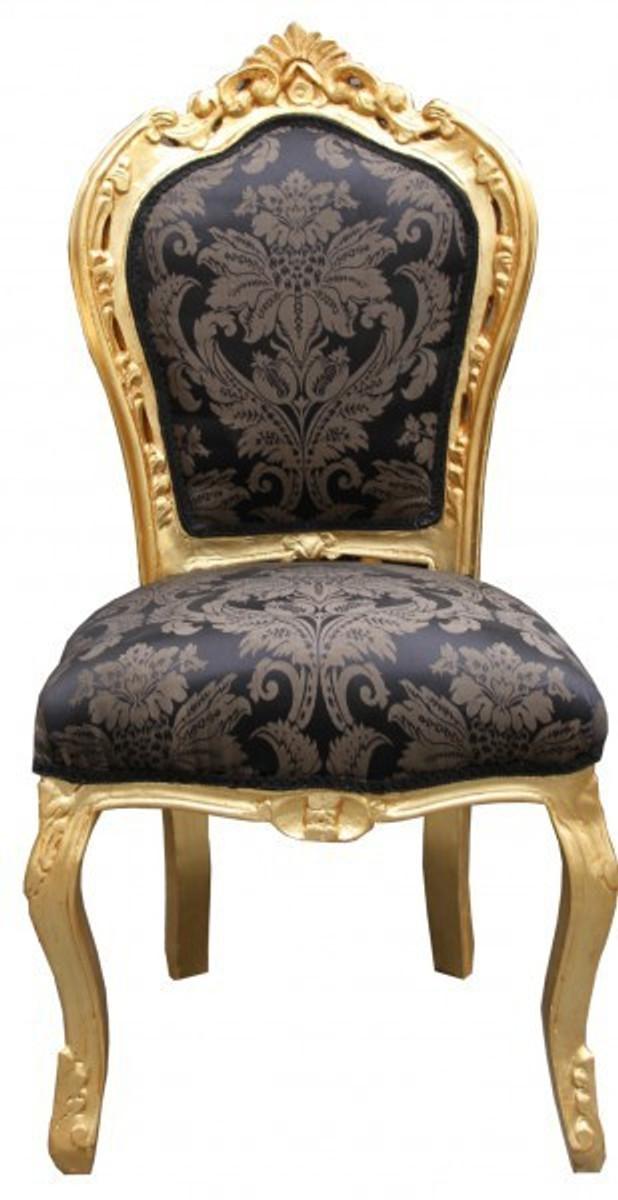 Casa Padrino Barock Esszimmer Set 4 Stühle Ohne Armlehnen