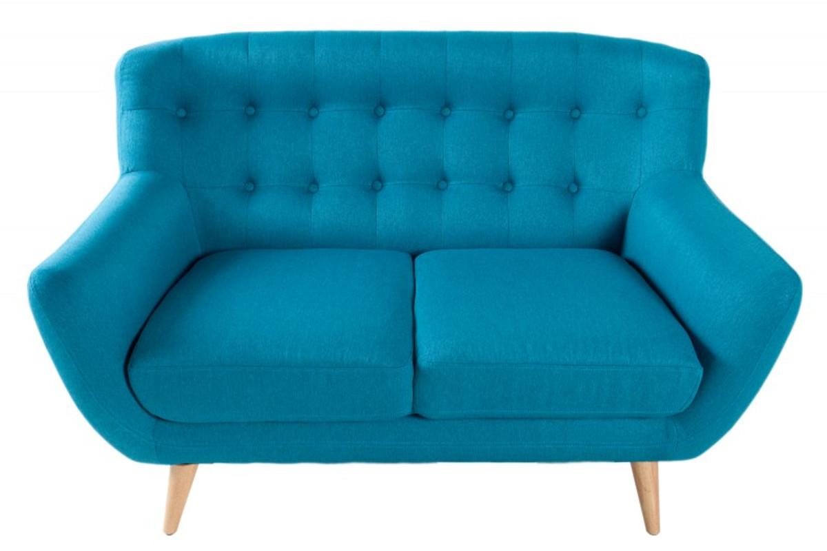 Chesterfield 2er Sofa Blau Aus Dem Hause Casa Padrino Wohnzimmer