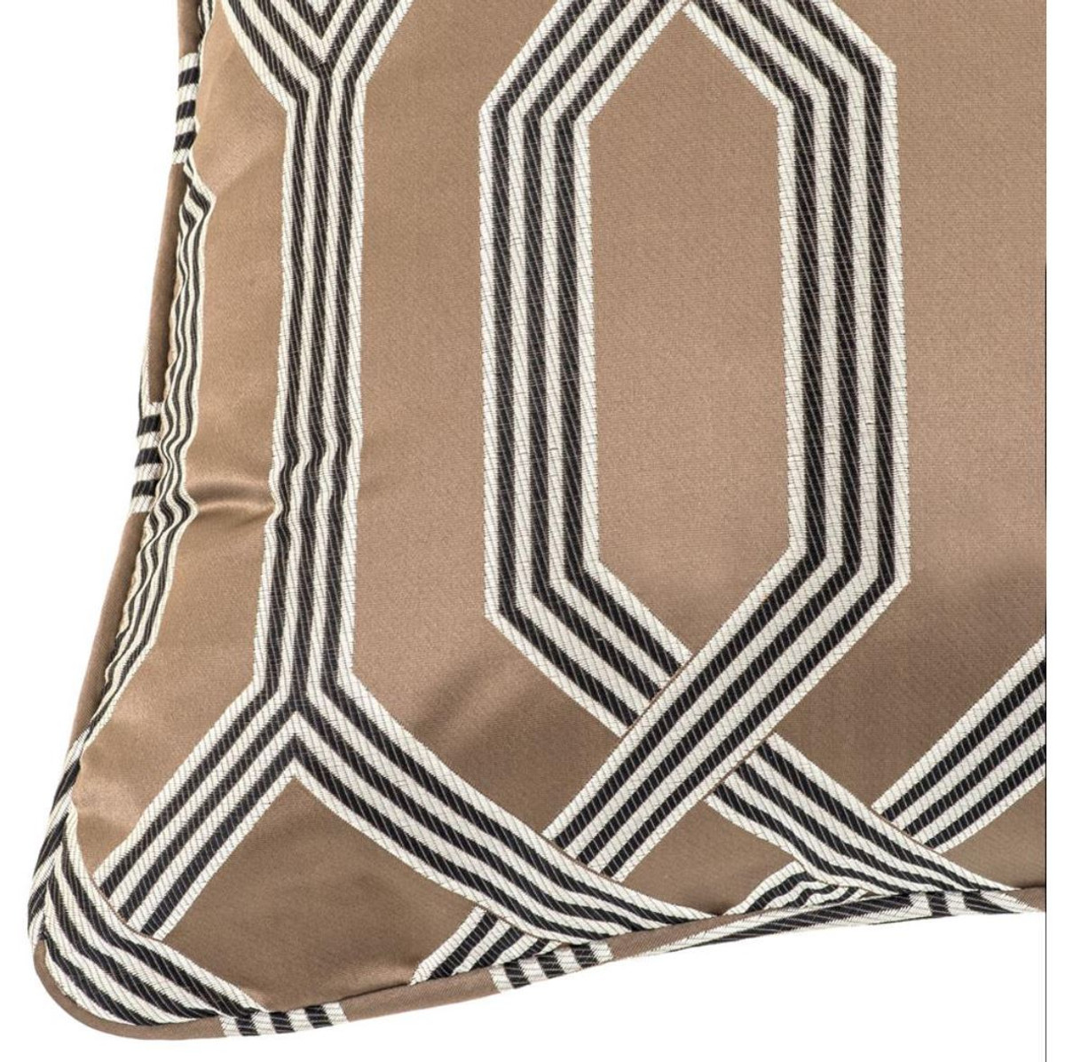 Casa Padrino Designer Kissen Braun 60 x 60 cm Luxus