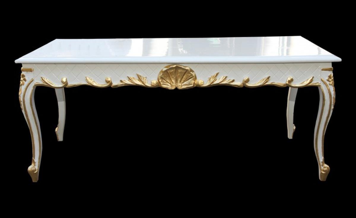 Casa Padrino Barock Couchtisch Weiss Gold 120 X 60 Cm Mod2 Antik