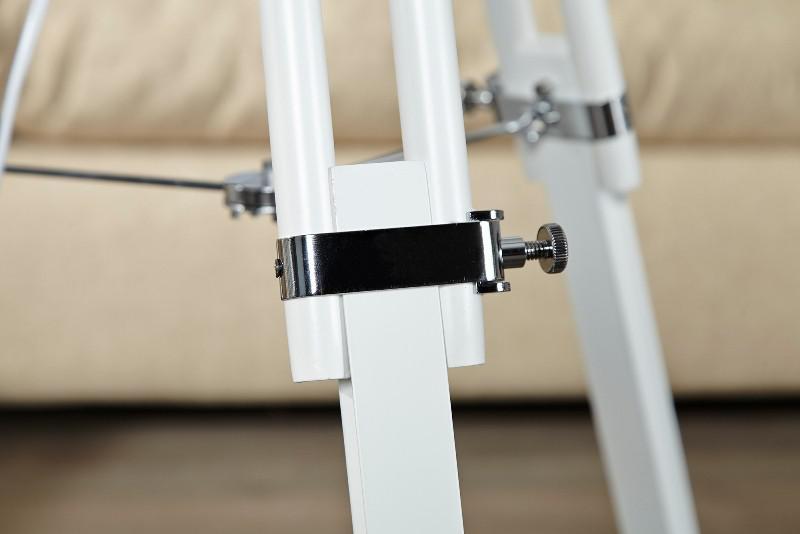 elegante stativ lampe stehleuchte mit wei em schirm tripod floor lamp h 91 153 cm kaufen. Black Bedroom Furniture Sets. Home Design Ideas
