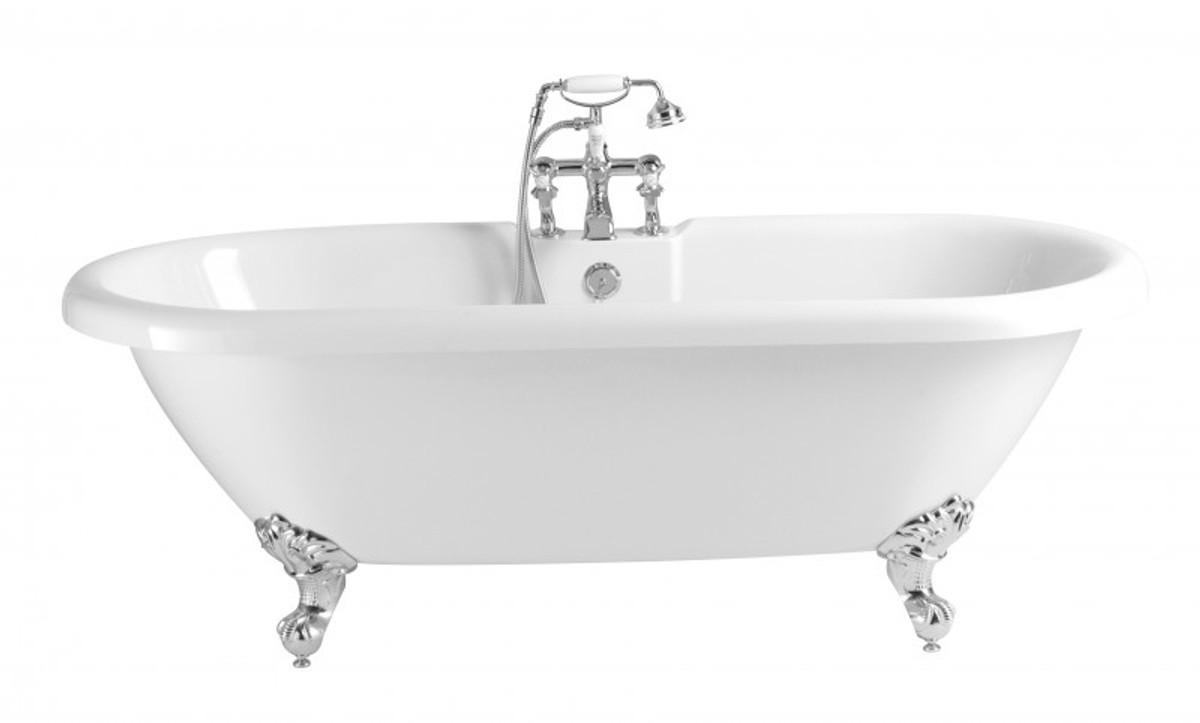 Casa Padrino Jugendstil Badewanne Freistehend Weiß Modell He Bab