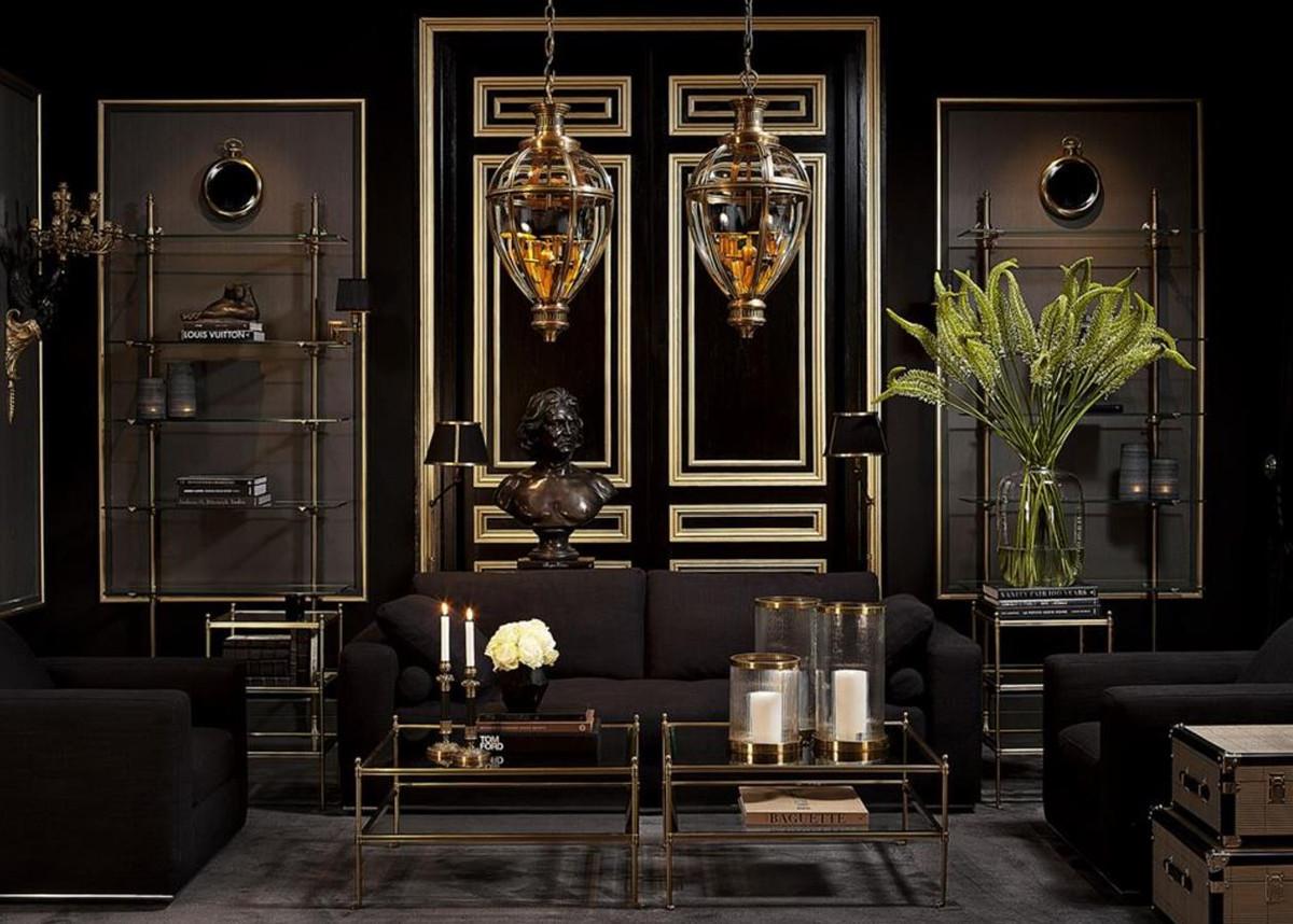 Casa Padrino Designer Wandregal Antik Messing 100 X 41 X H 240 Cm Luxus Wohnzimmer Mobel