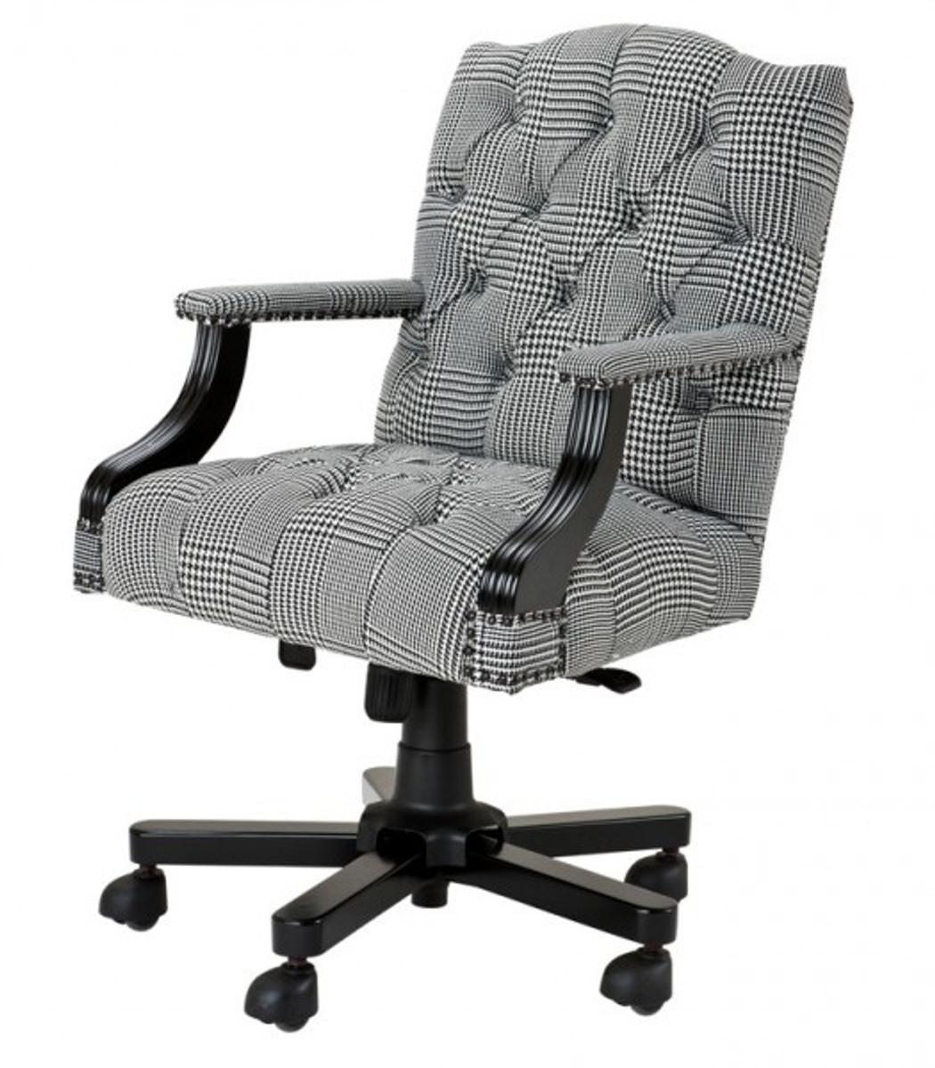 Luxus Chef Buro Stuhl Creme Braun Drehstuhl Schreibtisch Stuhl