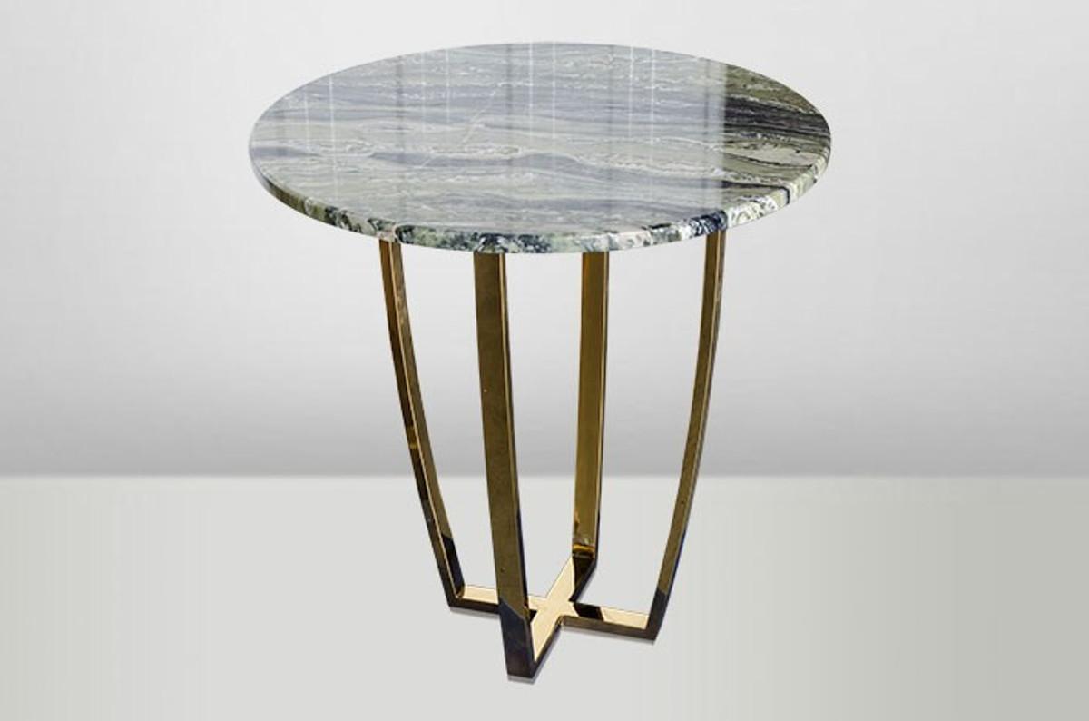 casa padrino art deco beistelltisch gold metall marmor