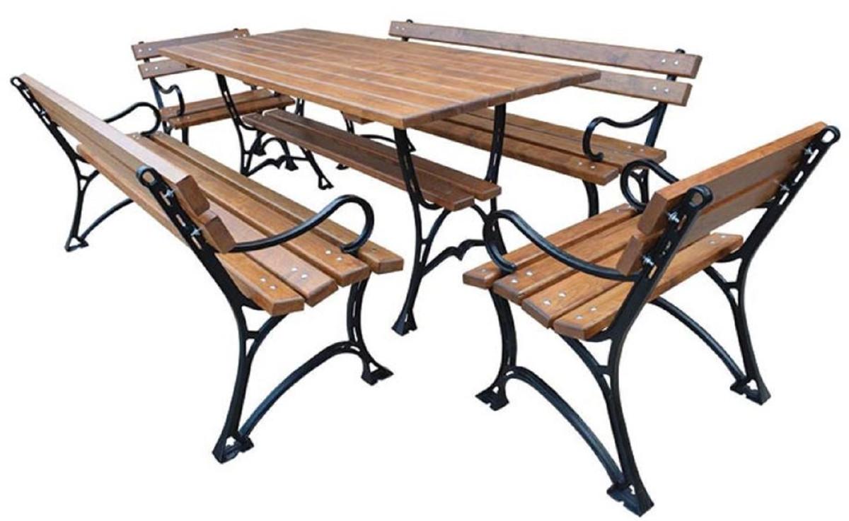 Casa Padrino Jugendstil Gartenmobel Set Tisch 2 Sitzbanke 2 Stuhle