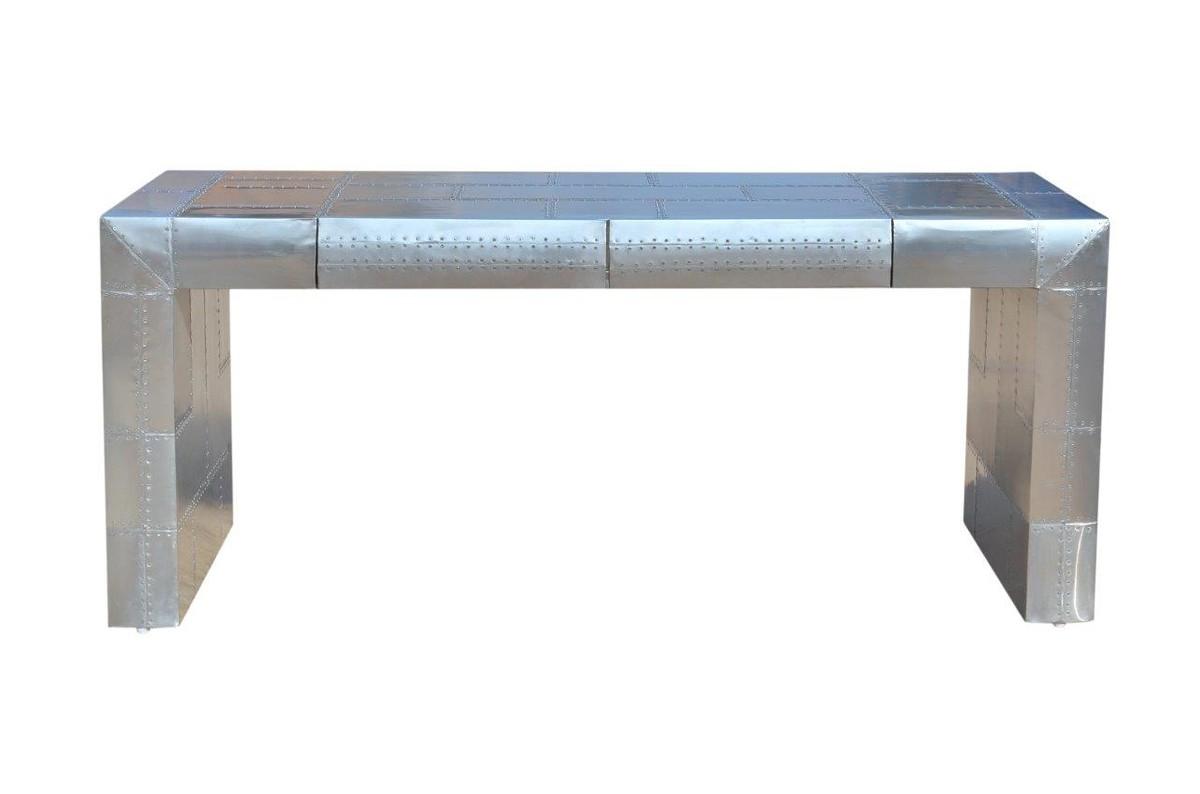 Designermöbel schreibtisch  Casa Padrino Art Deco Aluminium Tisch - Flugzeug / Flieger Möbel ...