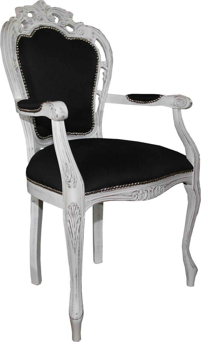 Casa Padrino Barock Luxus Esszimmer Stuhl Mit Armlehnen