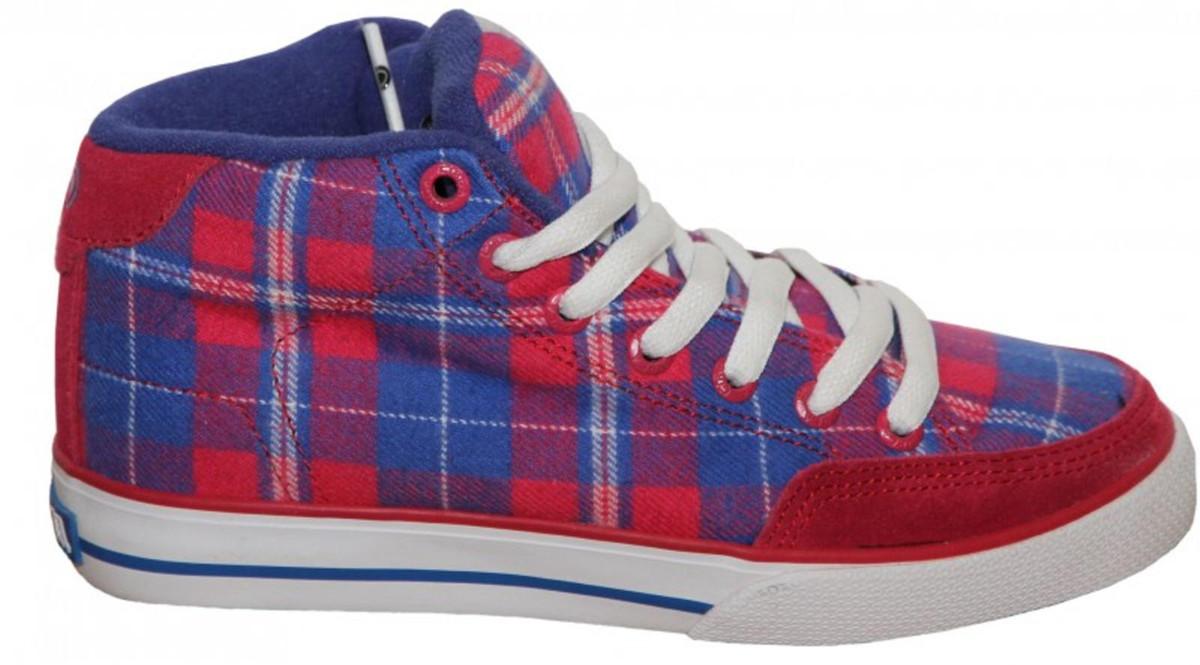 Circa Skateboard Schuhe ALW 50 Mid rot Blau Weiß Plaid Plaid Plaid Turnschuhe schuhe 5ec8bb