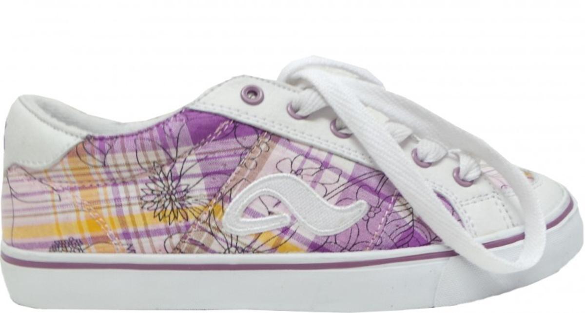 Adio Skateboard Schuhe Keds Girls Weiß lila Caro