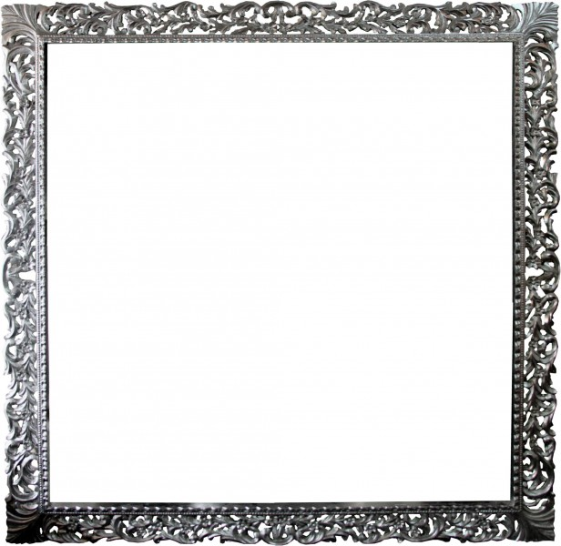 casa padrino barock holz bilderrahmen 150 x 160 cm silber. Black Bedroom Furniture Sets. Home Design Ideas