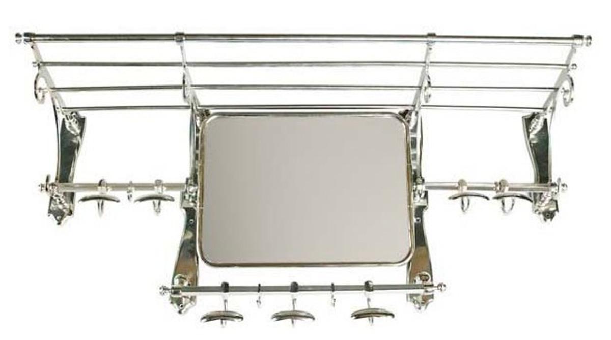 Französische Luxus Wandgarderobe mit Spiegel Silber Edelstahl ...