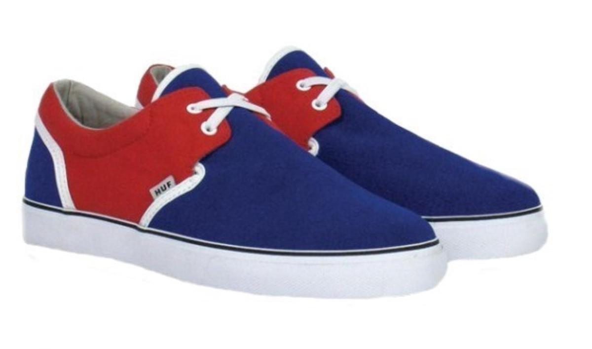 HUF Skateboard Schuhe Genuine-- Navy Rot  Weiß Navy rot Weiß