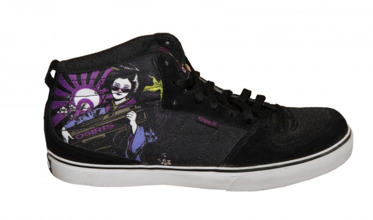 Osiris Skateboard Schuhe Uptown Vulc Geisha schwarz Weiß lila Turnschuhe schuhe