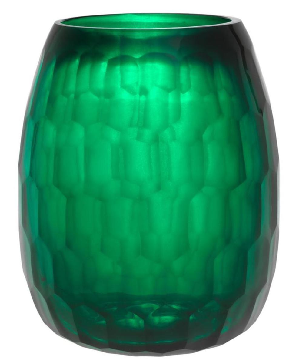 Casa Padrino Deko Glas Vase Grün ø 27 X H 35 Cm Luxus Dekoration