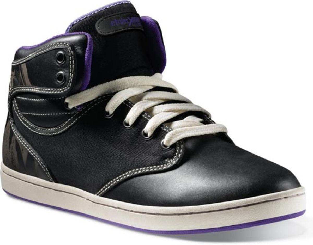 Etnies Skateboard Schuhe Disney Labs schwarz lila