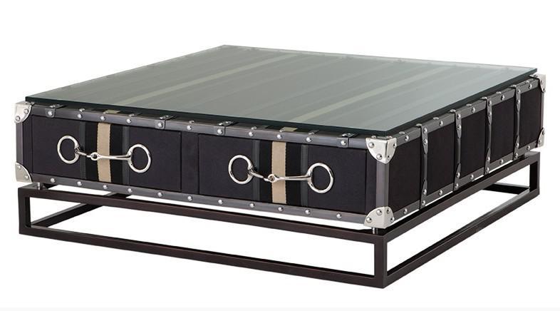 Casa padrino luxus couchtisch im vintage koffer design mit for Luxus couchtisch