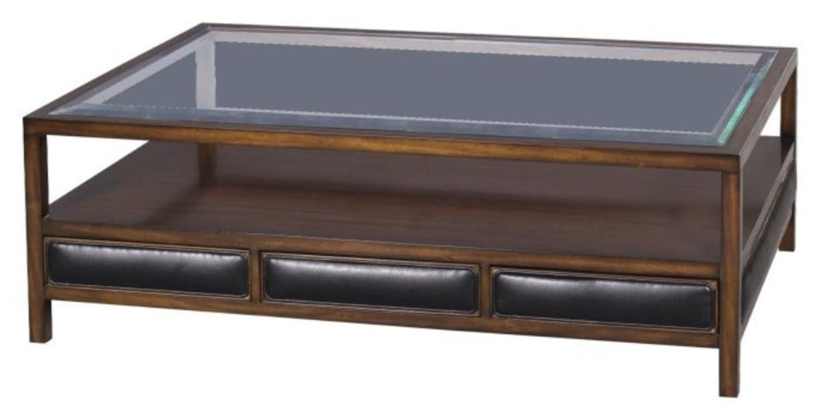 Casa Padrino Luxus Couchtisch Braun Schwarz 120 X 80 X H 41 Cm