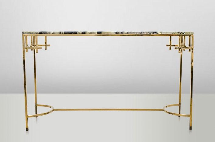 casa padrino art deco konsolentisch gold metall marmor. Black Bedroom Furniture Sets. Home Design Ideas