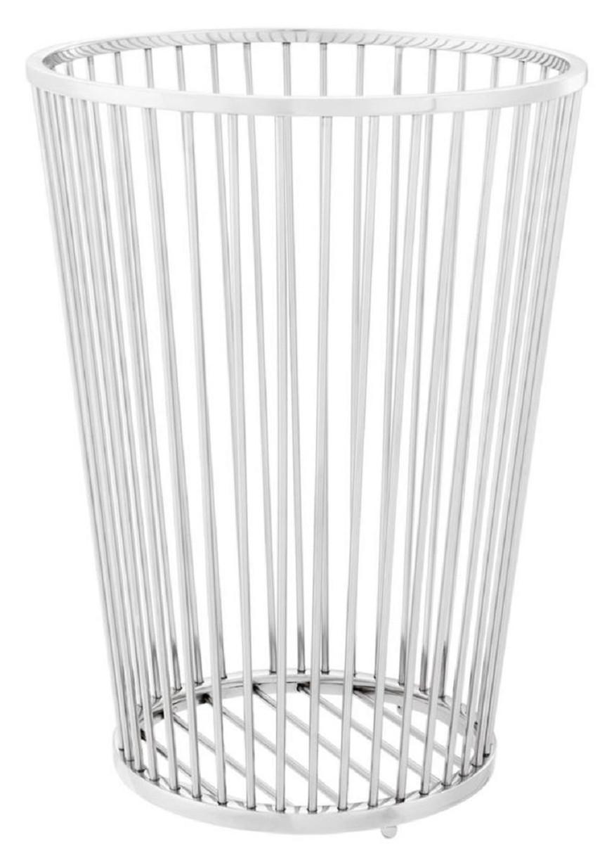 Casa Padrino Luxus Edelstahl Waschekorb Silber O 30 X H 40 5 Cm Luxus Badezimmer Accessoires