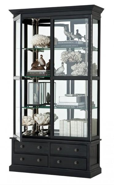 luxus glasvitrine ladeneinrichtung shop hotel mobel luxus kategorie eichenholz black antique finish