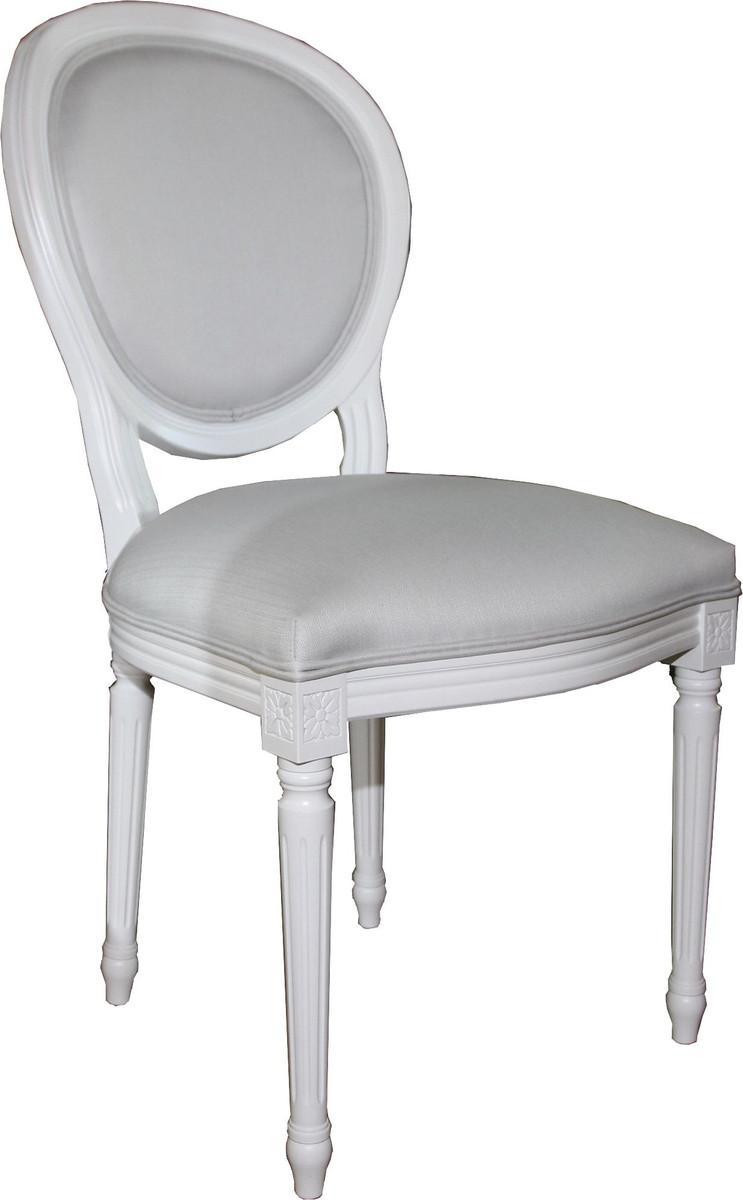Casa Padrino Luxus Barock Esszimmer Stuhl Weiß Weiß Luxus Qualität Kaufen bei Demotex GmbH