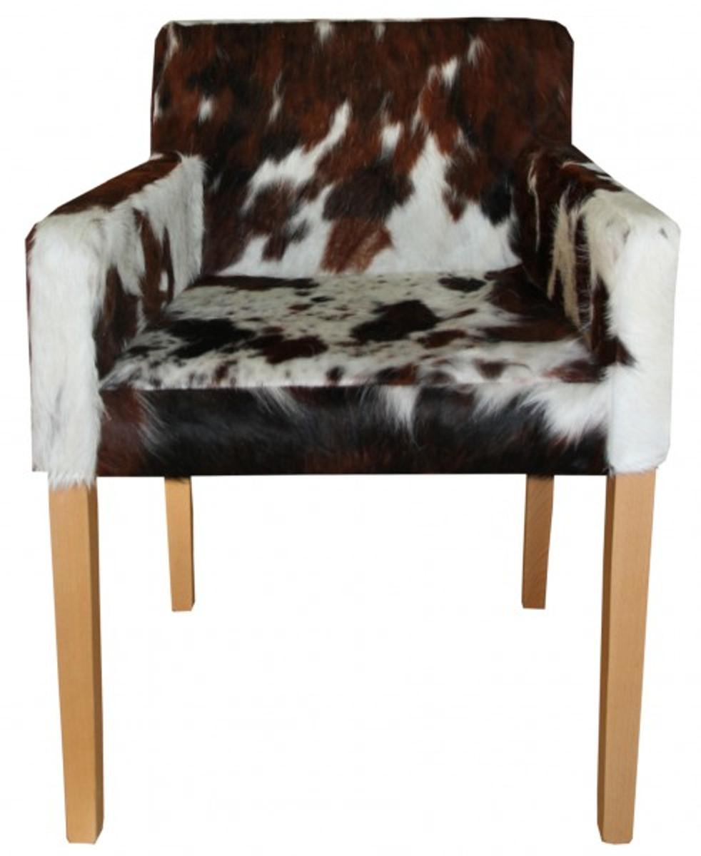 Fell Für Stuhl casa padrino designer esszimmer stuhl mit armlehnen modef 35 kuhfell