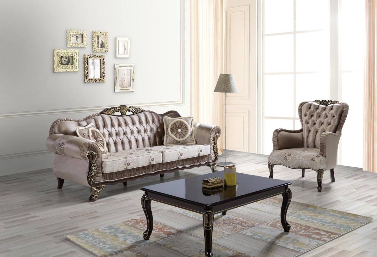 Casa Padrino Barock Wohnzimmer Set Braun Beige Schwarz Gold 2 Sofas 2 Sessel 1 Couchtisch Wohnzimmer Mobel Im Barockstil Kaufen Bei Demotex Gmbh