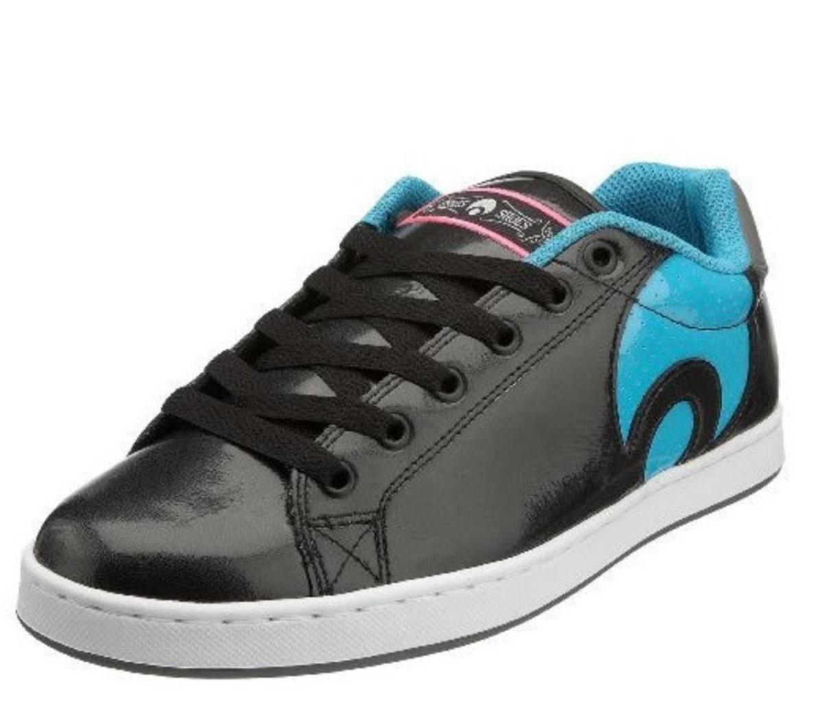 Osiris Skateboard Schuhe Troma Icon schwarz Cyan Weiß