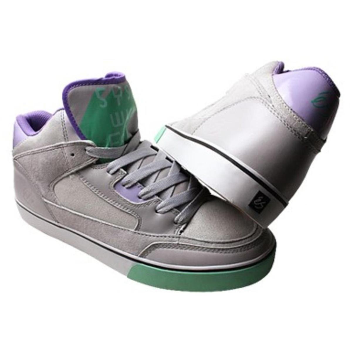 ES Footwear Skateboard Schuhe Ogi Erving grau Weiß Grün