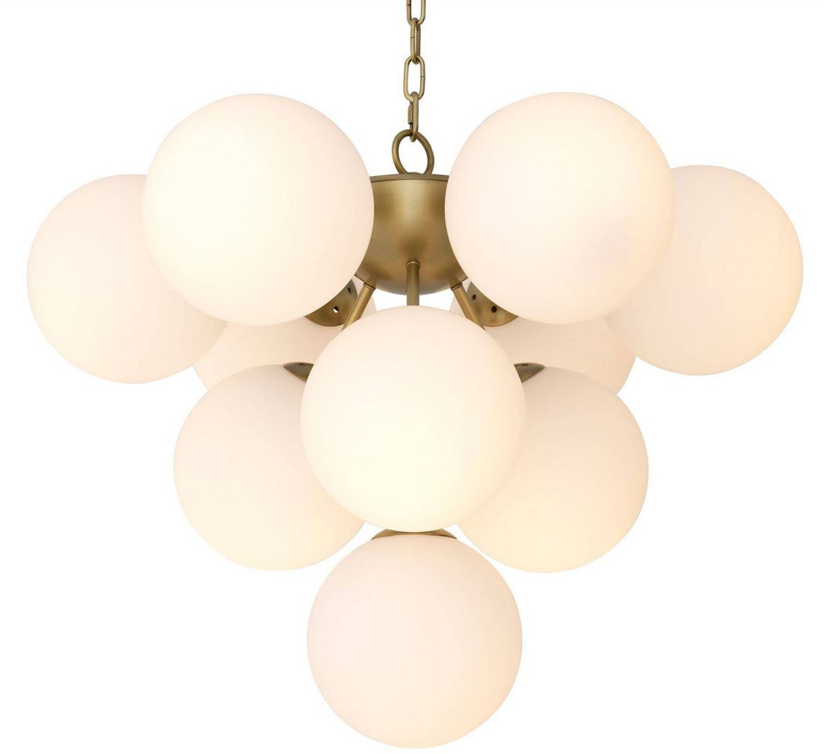Kronleuchter Mit Lampenschirmen Moderne Kronlechter Hier: Casa Padrino Luxus Kronleuchter Antik Messingfarben / Weiß