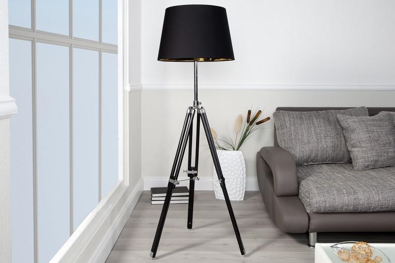 Designer Stativ Lampe Stehleuchte In Schwarz H 91 153 Cm