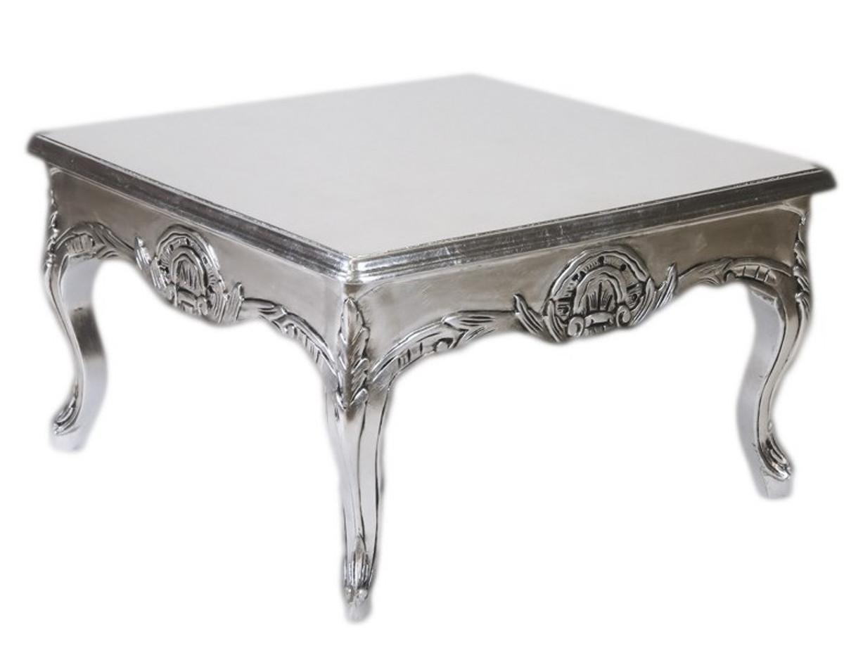 Casa Padrino Barock Beistelltisch Silber 80 X 80 Cm Couchtisch