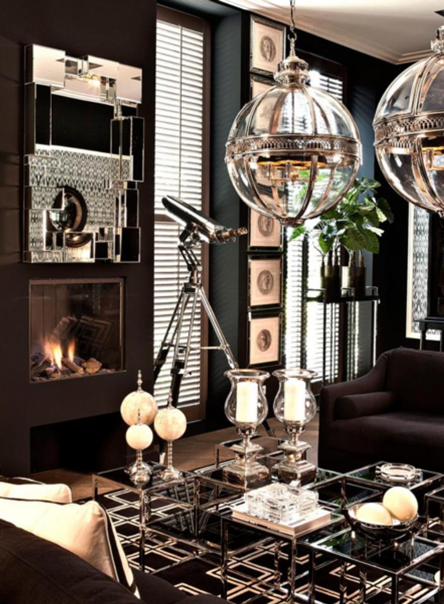 Wohnzimmer Salon Tisch Tische Casa Padrino Art Deco Luxus ...