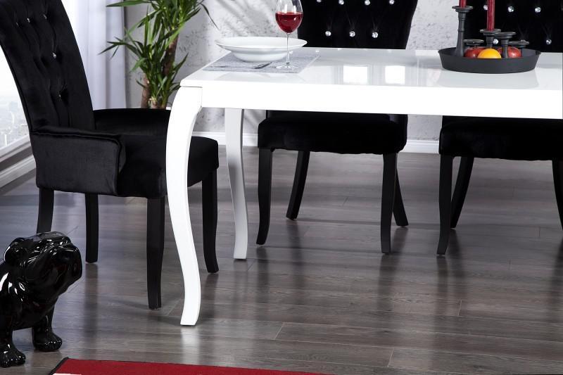 Amazing Perfect Simple Free Moderner Barock Esstisch Wei Hochglanz Cm Von  Casa Padrino Esszimmer Tisch With Esstisch Wei Hochglanz Oval With Esstisch  Wei ...