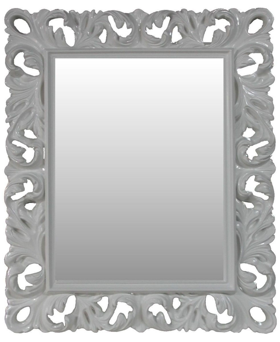Casa Padrino Barock Wandspiegel Antik Stil Weiß 84 X 105 Cm   Barocker  Spiegel Antikweiß
