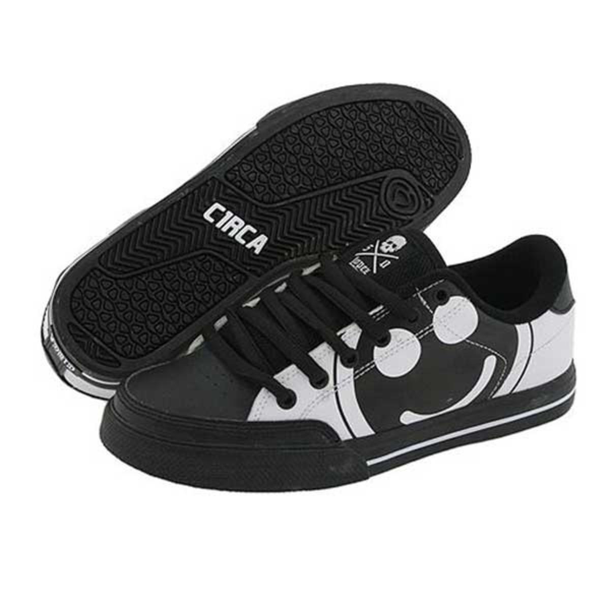 C1RCA Skateboard Schuhe ALK50BWSH schwarz Weiß Super Happy - Circa Kids schuhe