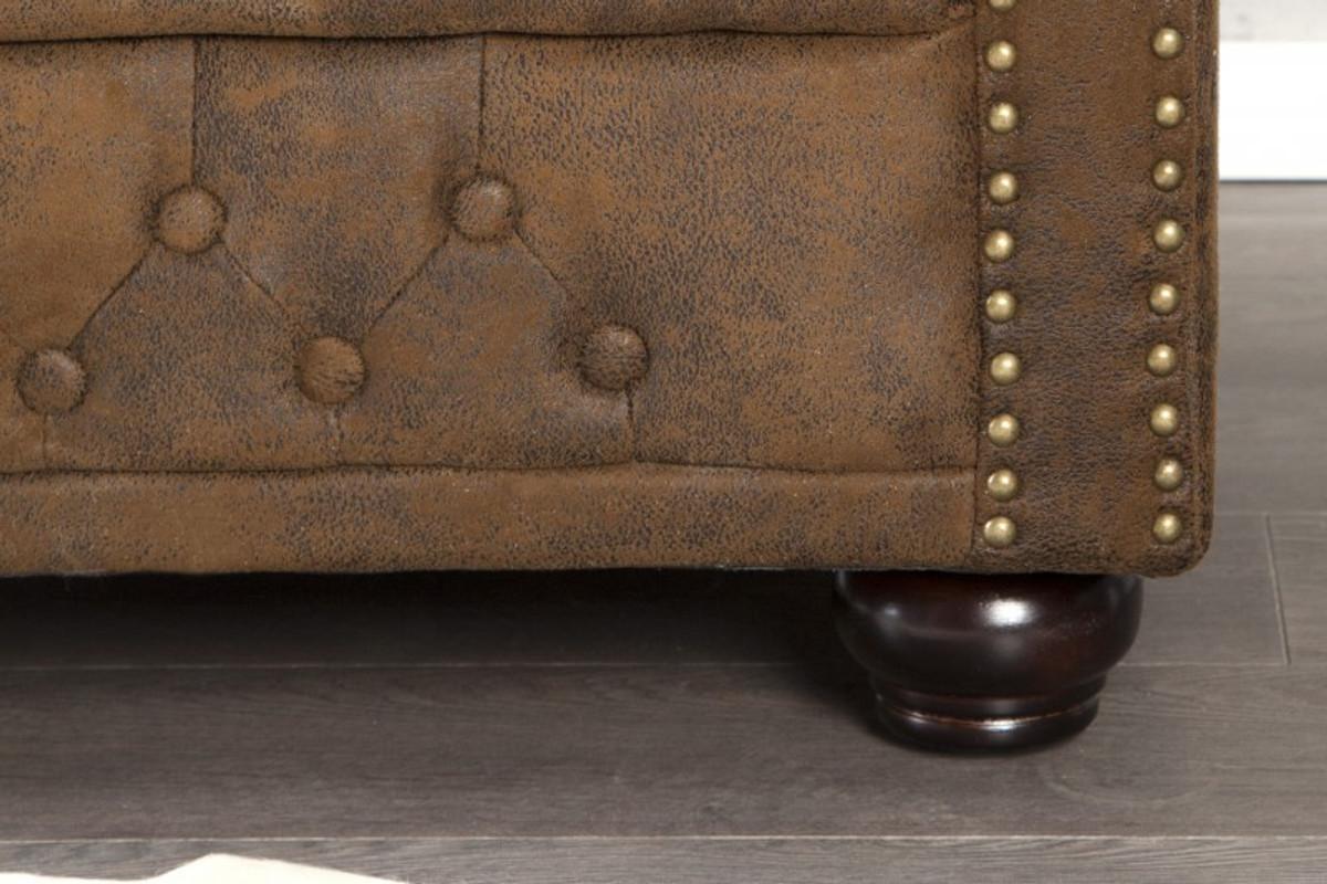 Chesterfield Sessel Antikbraun Aus Dem Hause Casa Padrino Lounge