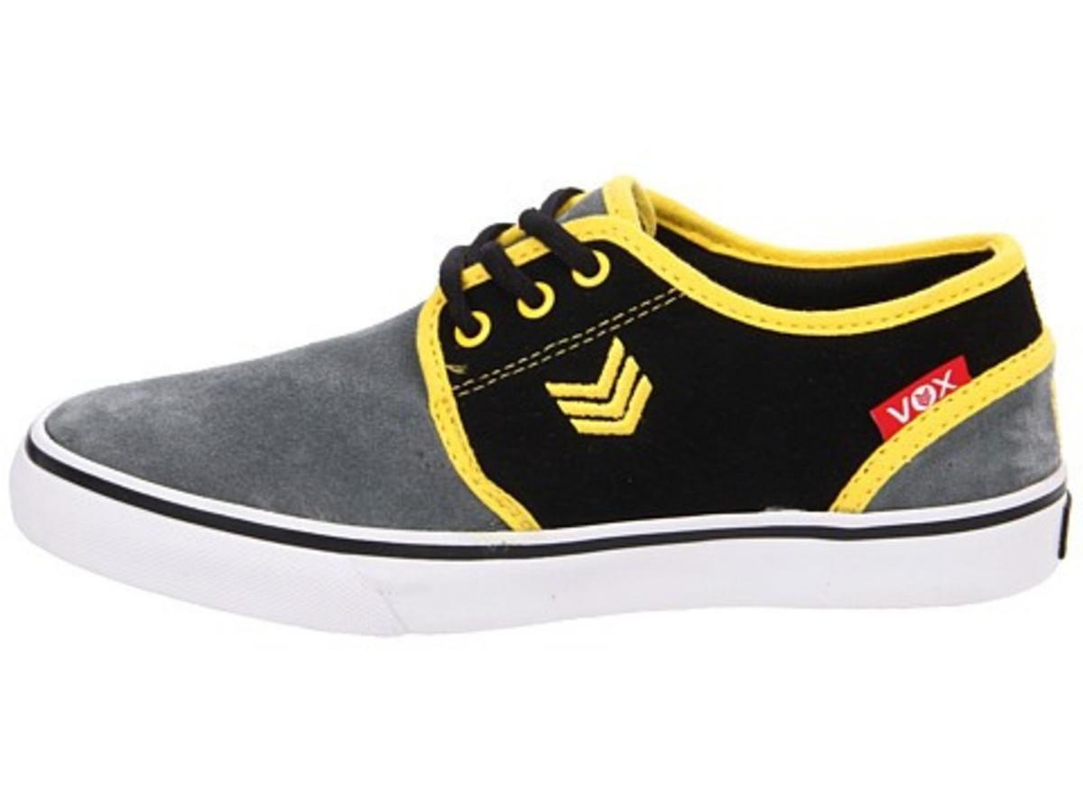 Vox Skateboard Schuhe Slacker Kids Slate rot Gelb