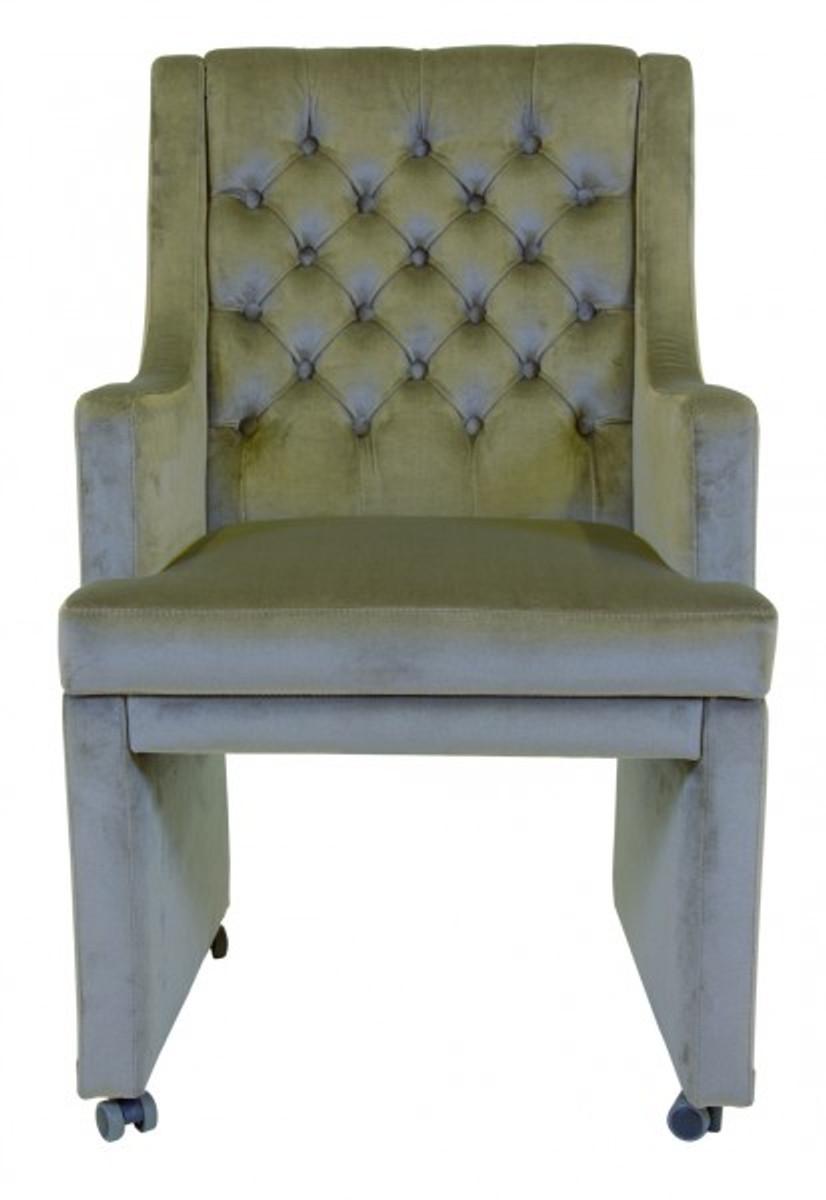 Casa padrino designer esszimmer stuhl sessel modef 313 - Stuhl auf rollen ...