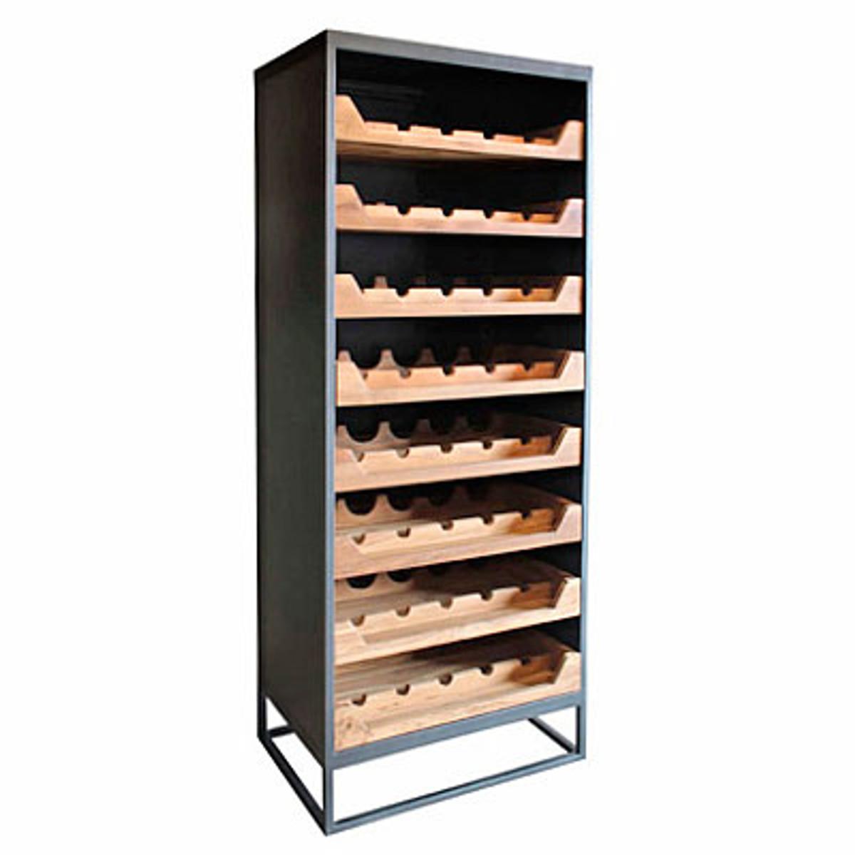 Casa Padrino Industrial Look Weinschrank 67x45x183cm Metall Holz Weinregal Kaufen Bei Demotex Gmbh