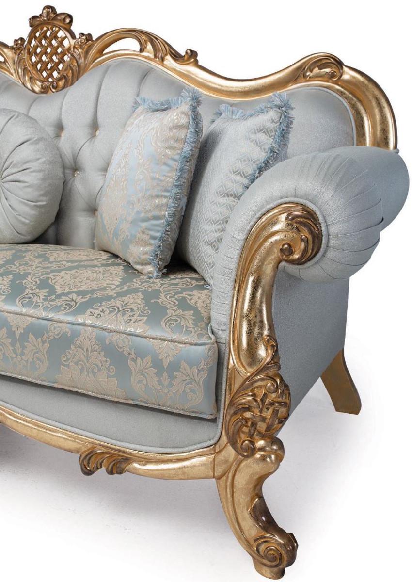 Casa Padrino Luxus Barock Wohnzimmer Sofa mit dekorativen ...