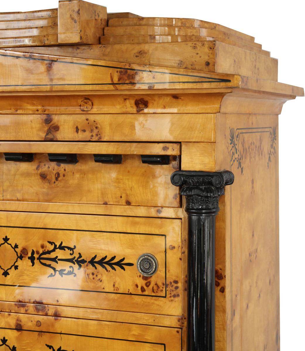 casa padrino art deco schubladen schrank vogelaugenahorn. Black Bedroom Furniture Sets. Home Design Ideas